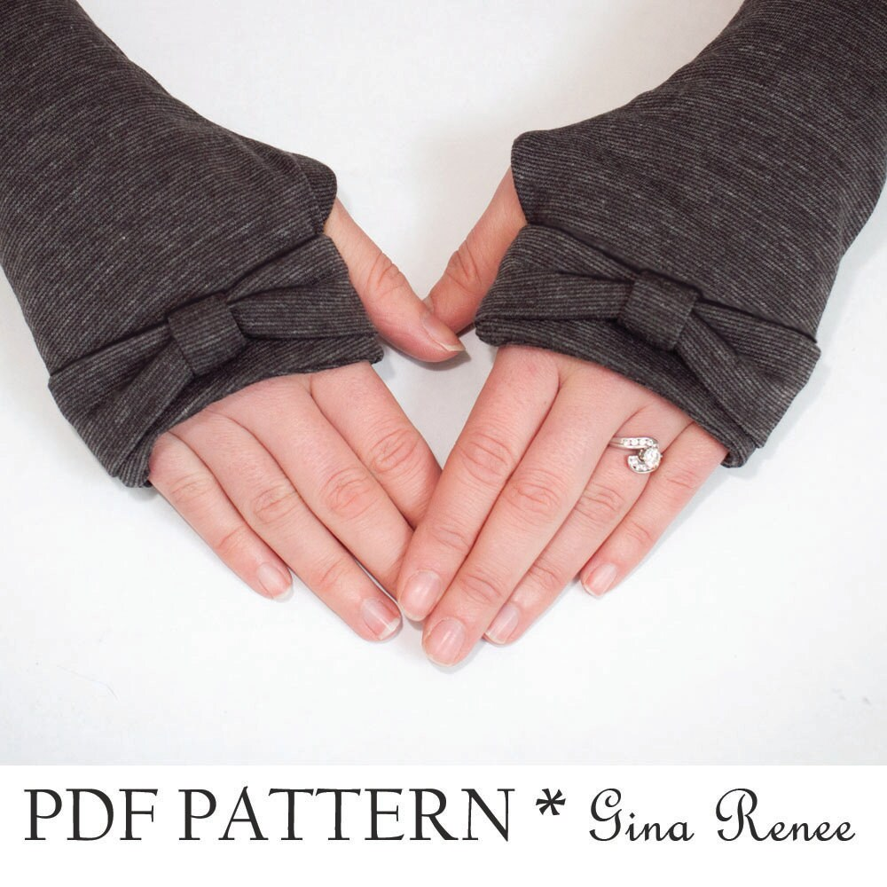 Fingerless gloves sewing pattern arm warmer pattern pdf zoom jeuxipadfo Image collections