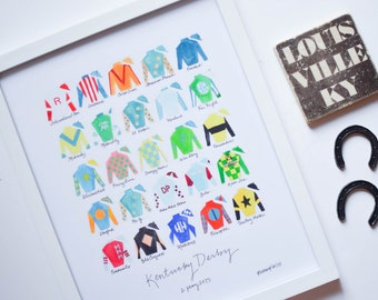 Kentucky Derby 141 11x14 Jockey Silks Signed Print - Limited Reprint!