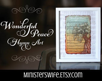 Digital Download - Wonderful Peace Hymn Art Printable