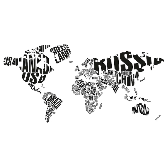 World map wall decal countries wall decor map decor home decor world map wall decal countries wall decor map decor home decor for living room letters world map wall decal map wall art travel decor et060 gumiabroncs Images