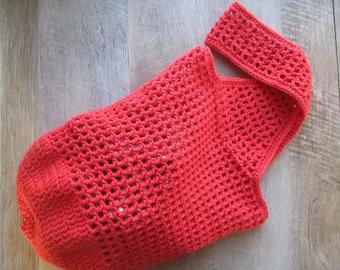 100% Cotton Market Bag - Red