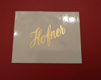 Hofner Metallic Gold Waterlide Decal