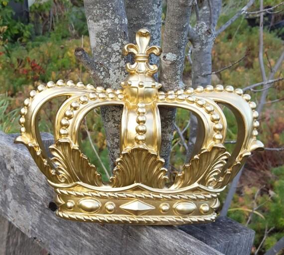 Oro corona pared decoración vivero pared Decor cuna dosel