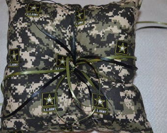 Army Camo Ring Pillow