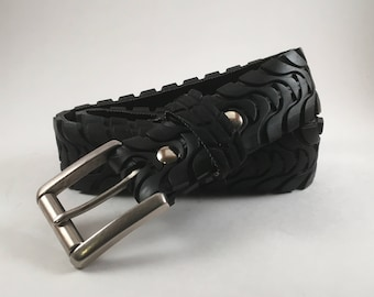 ReCycled Bicycle Tire Belt: Wave