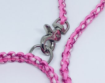 Paracord Dog Lead Pink