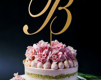 Wedding Cake Topper, Monogram Cake Topper, Name Initials, First Name, Last Name cake topper for Wedding, Birthday or Anniversay A142