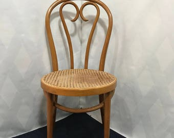 Vintage Thonet Bentwood Cane Cafe Chair Made In Romania
