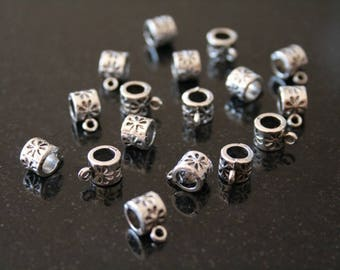 50 bails in antique silver. (ref:1319).