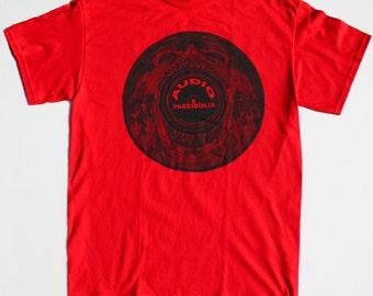 Audio Pareidolia Record Lp T-shirt, Subliminal Messages, Devil