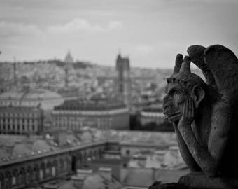 Gargoyle over Paris - 16x20 Digital Print