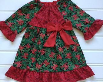 Christmas Dress for Girl, Girl Christmas Dress, Toddler Christmas Dress, Girl Holiday Dress, Toddler Christmas Outfit, 4T