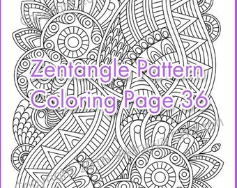 Coloring pages for adults ZENTANGLE, PDF zentangle pattern, printable art tangle inspired