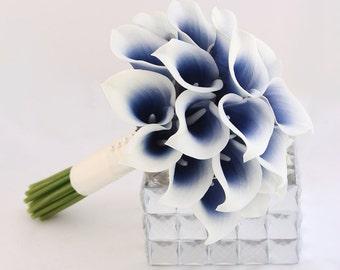 Navy blue bouquet | Etsy