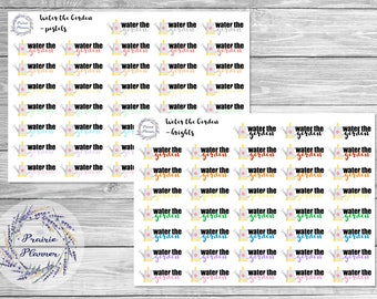 Water the Garden - Planner Stickers