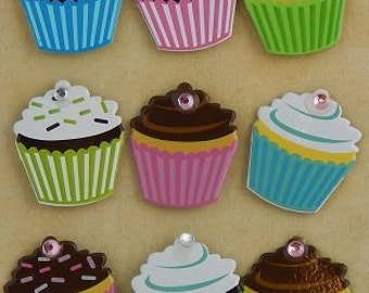 Cupcake Bling Brads//scrapbooking//planners//greeting cards//crafts//favor tags//gift card holders//envelopes//gifts//parties