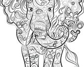 Elephant Drawing  Instant...