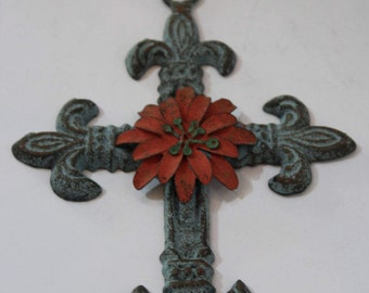 Decorative Cross, Decorative Wall Cross, Decorative Crucifix, Wall Cross, Christian Decor, Iron Cross, Religious Wall Decor, Ornate Cross