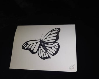 Black and White Ink Blank Notecards