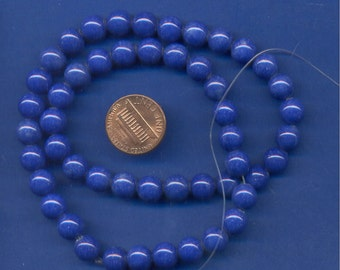 "16"" Strand of 8mm Mt. Jade Beads: Blue"