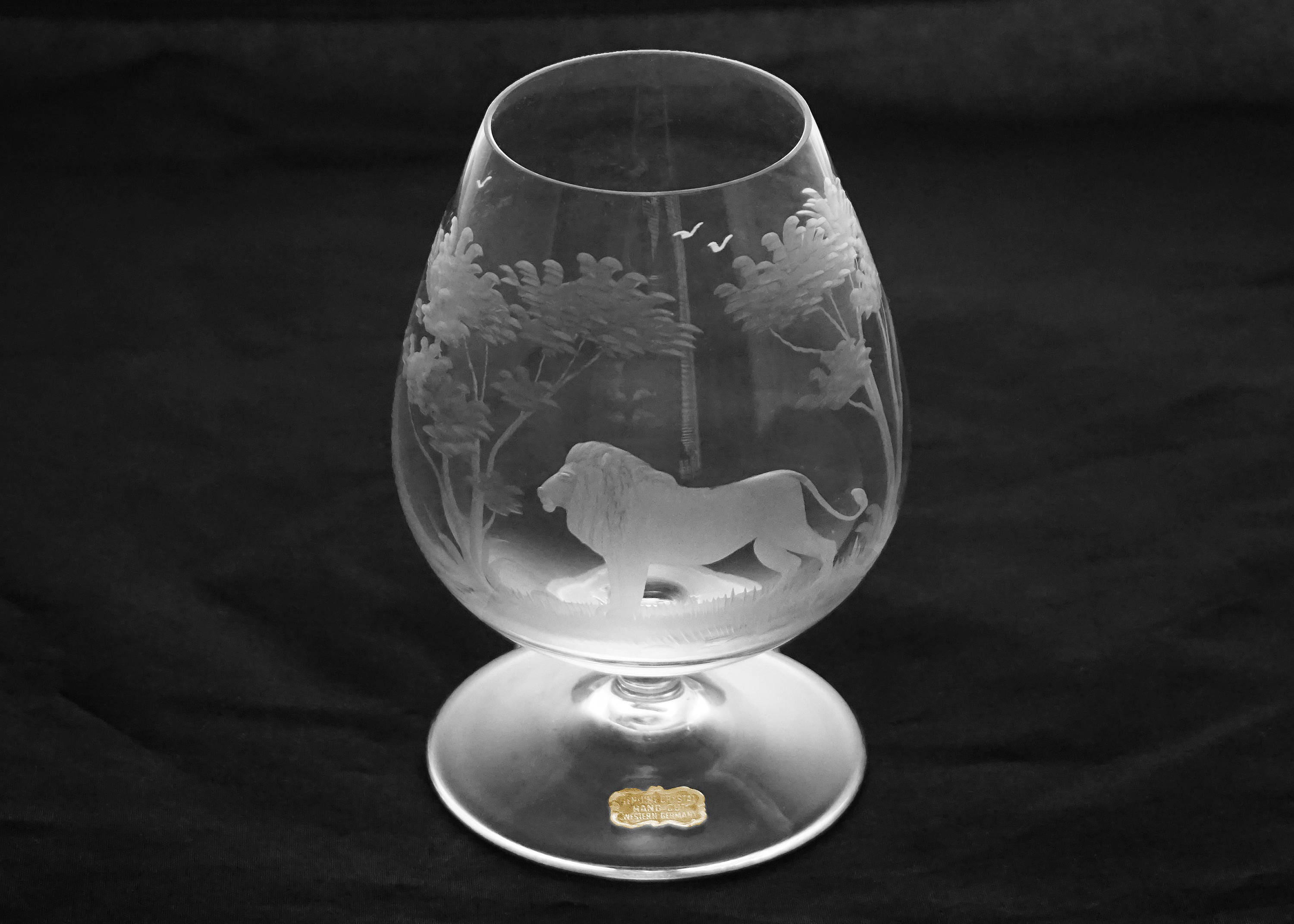 Rowland ward nairobi brandy snifter crystal hand etched lion zoom reviewsmspy