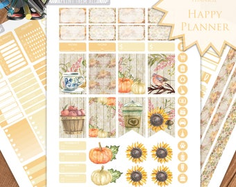 Fall Planner Stickers - Happy Planner Stickers Printable - Weekly Planner - Stickers Set - Instant Download - Printable Planner - PDF