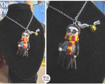 Necklace Harry and his Snitch