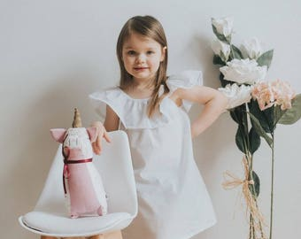 SS18 / baby girl dress / toddler dress / summer dress /toddler girl clothes / dusty pink dress/ baby tunic / baby shower gift