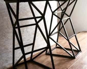 Own Design Geometric Industrial Heavy Bar Chair