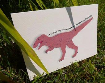 Dinosaur Cards, Set Of 5 Cards, Stationery Addict, Thank You Card Set, Cute Dinosaurs, Illustrated Dinosaur, Dino Cards, Dinosaurs