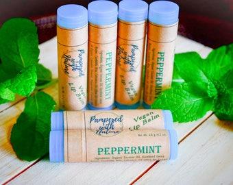 Peppermint Natural Vegan Lip Balm