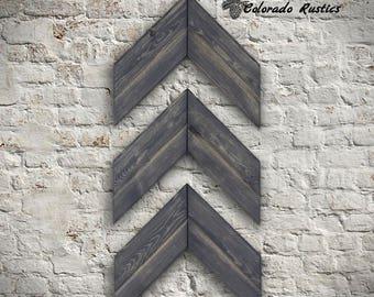 Wooden Chevron Arrow, Rustic Home Decor, Wood Arrow Decor, Wood Arrow Sign, Chevron Art, Chevron Arrow, Wall Art, Rustic Decor, Gray