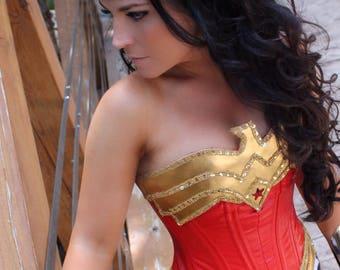 SEQUIN Wonder Superhero Woman Chest Piece