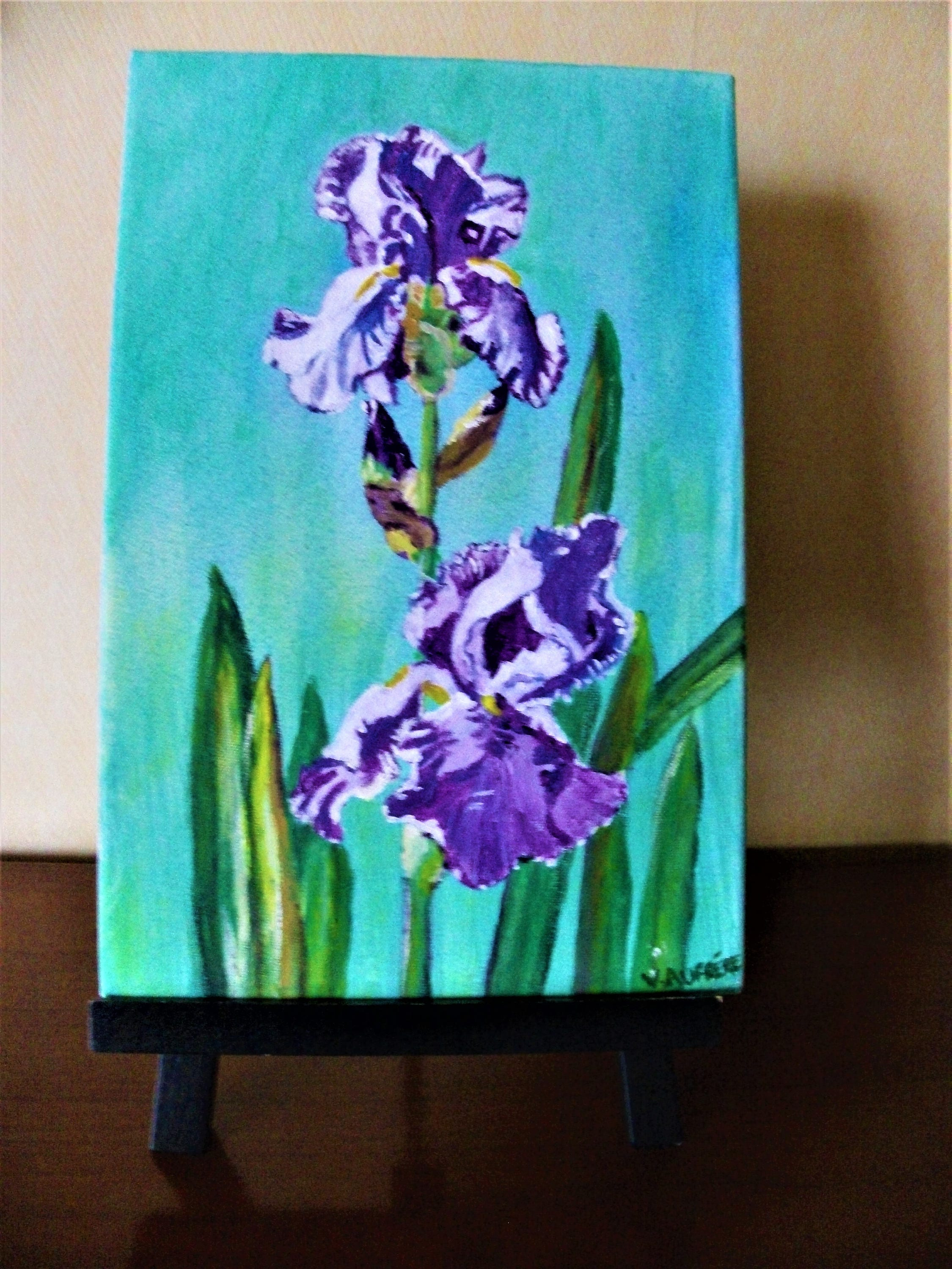 Iris of the garden acrylic paint flowers pictureboard description acrylic paint iris izmirmasajfo