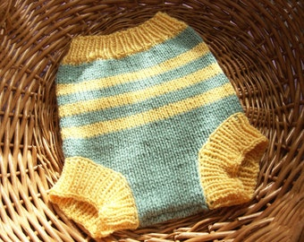 Hand Knitted Wool Cloth Diaper Cover Soaker Wool Nappy Cover  Baby Diaper Cover Knit Cloth Diaper sizes Medium and Large READY TO SHIP
