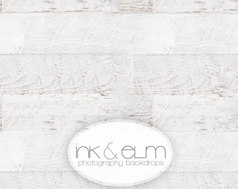 "Vinyl Photography Backdrop 6ft x 5ft, Photo Backdrop / Floordrop, Vintage White Wood Planks, White Wood Floor Backdrop, ""Celestially Aged"""