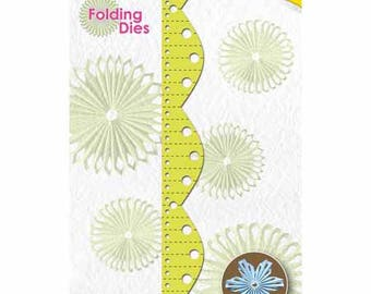Folding paper rosette Fleur 14 x 2 cm_NFD012 die