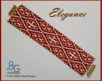 ELEGANCE Peyote Cuff Bracelet Pattern