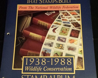 National Wildlife Federation The Dream That Stamps Built, 1938 - 1988 Wildlife Conservation Stamp Album, NO STAMPS
