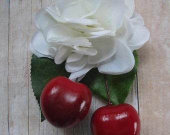 Rockabilly Cherry hair Cluster Clip - Carmen Miranda Style - Burlesque - retro -