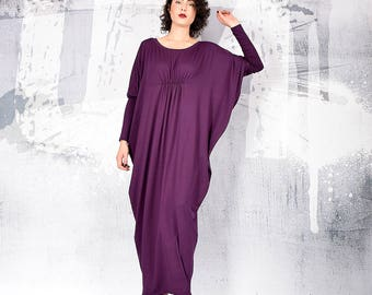 Kaftan dress, Woman Dress, Purple maxi dress, long dress, loose dress, oversize dress, maternity dress, bohemian dress, urbanmood, um-212-vl