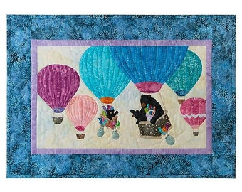 12 Months Of Happy~Oh The Places You'Ll Go Blk 8-Aug,- Quilt Pattern By Mckenna Ryan
