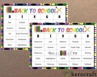 BACK TO SCHOOL Bingo - 40 Cards