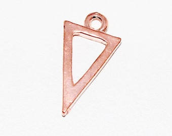 2 x rose gold triangle pendant