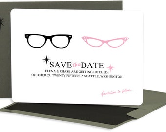 His & Hers Save the Dates