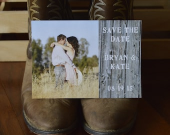 Country-Themed and Beautiful Sunshine Save the Dates