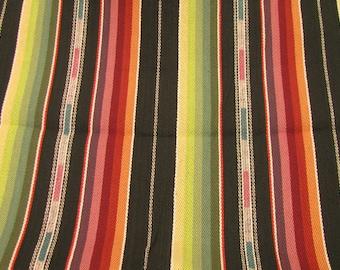 "Laura Kiran Southwest Stripes Zuni Stripe Black Multi heavy twill like decor fabric sent pillow size cuts, 18 or 26"", or as a sewn cover"