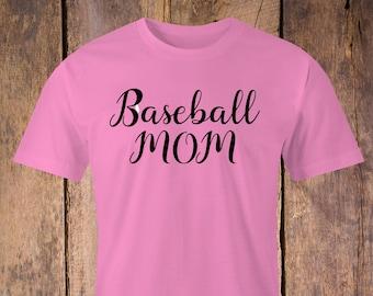 Baseball Mom T-shirt,Baseball Mom print,Baseball T-Shirt,Baseball Moms print Shirt,Sporty Moms T-Shirt, Sports Mom T-Shirt, Baseball shirt.