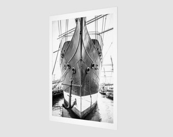 Boat and Anchor Archival Quality Art Print, 1:50 Limited Edition / home decor / decoration / photo / photography / black and white /.