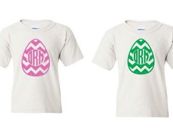 Easter egg monogram shirts! Infant, toddler, youth, and adult sizes!